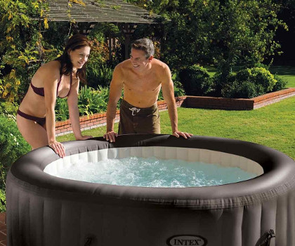 jacuzzi gonflable rond