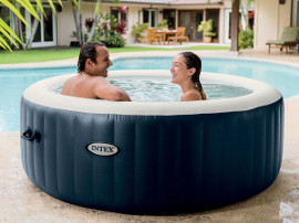 jacuzzi spa gonflable intex blue navy 4 places